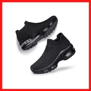 DOUSSPRT Women's Slip on Sock Sneakers